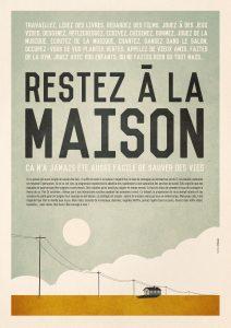 Affiche sur le confinement de Mathieu persan