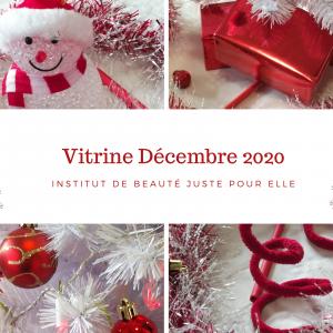 Carte présentant la vitrine de Noël 2020